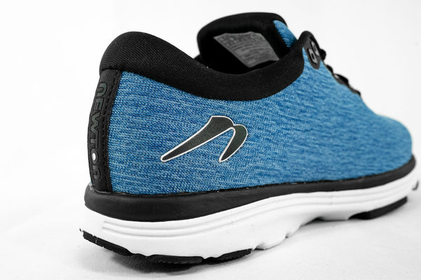 Newton Running Heather Blue Fusion back view