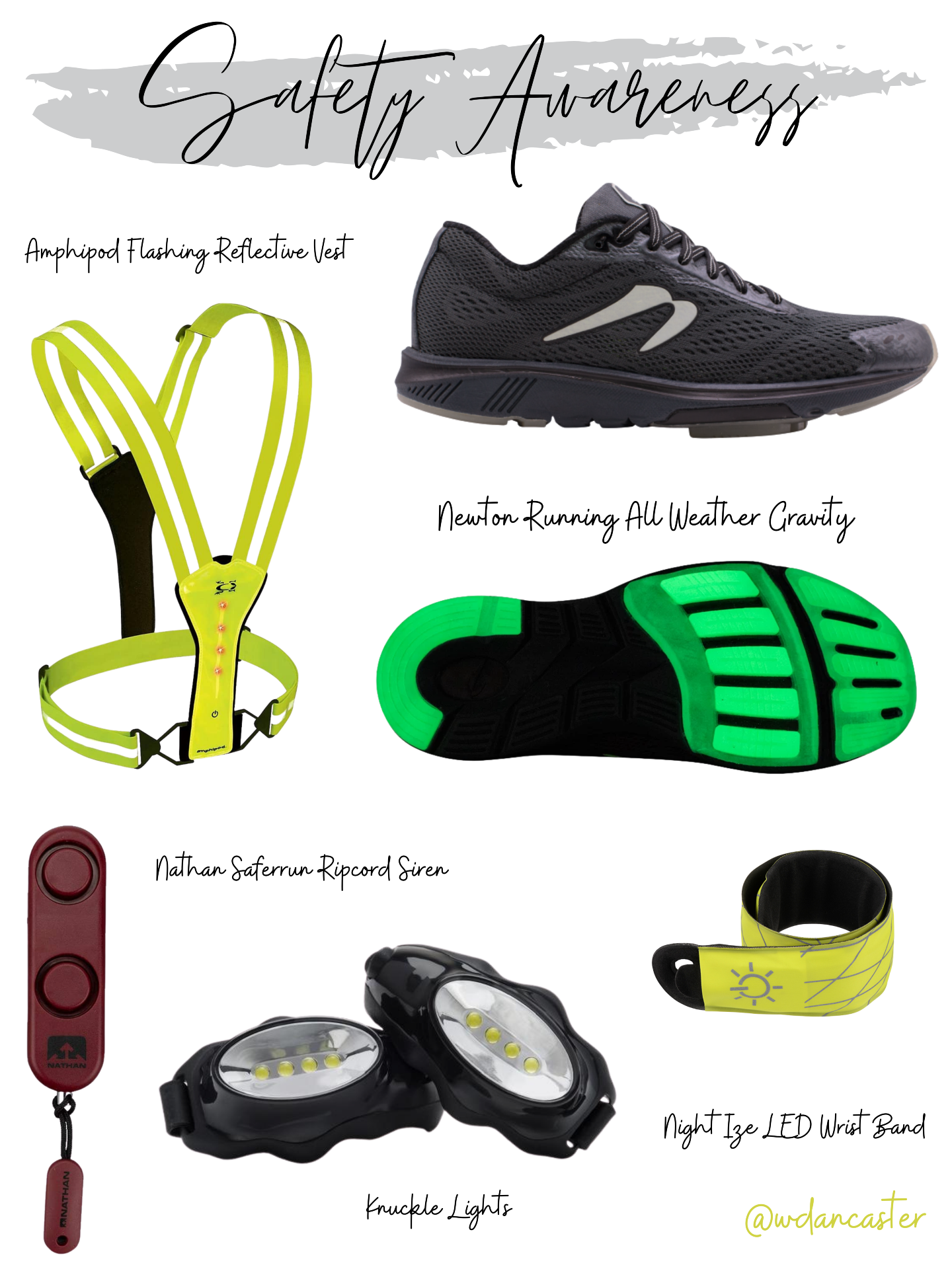 Runner's Safety Items