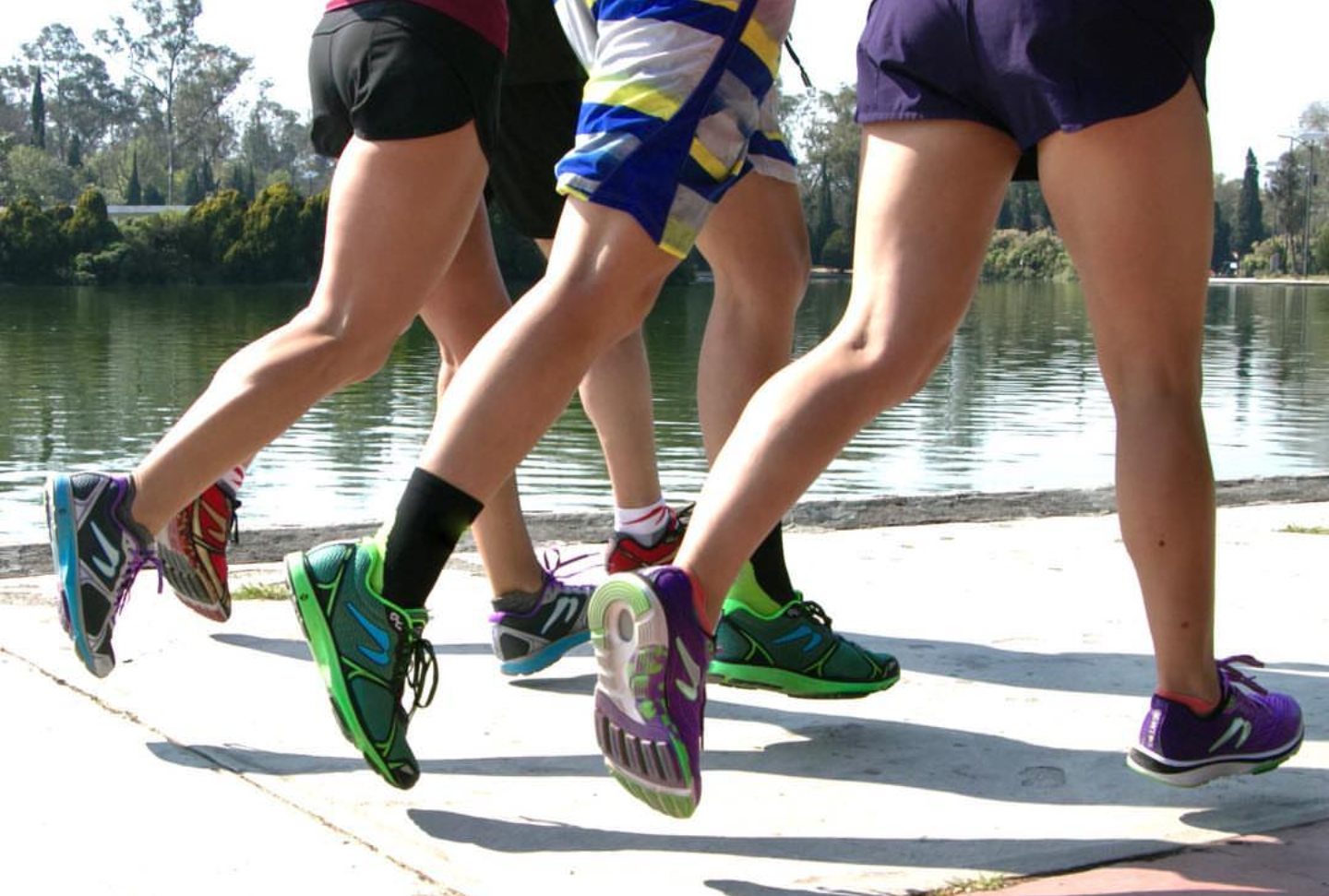 Three runners in Newton shoes