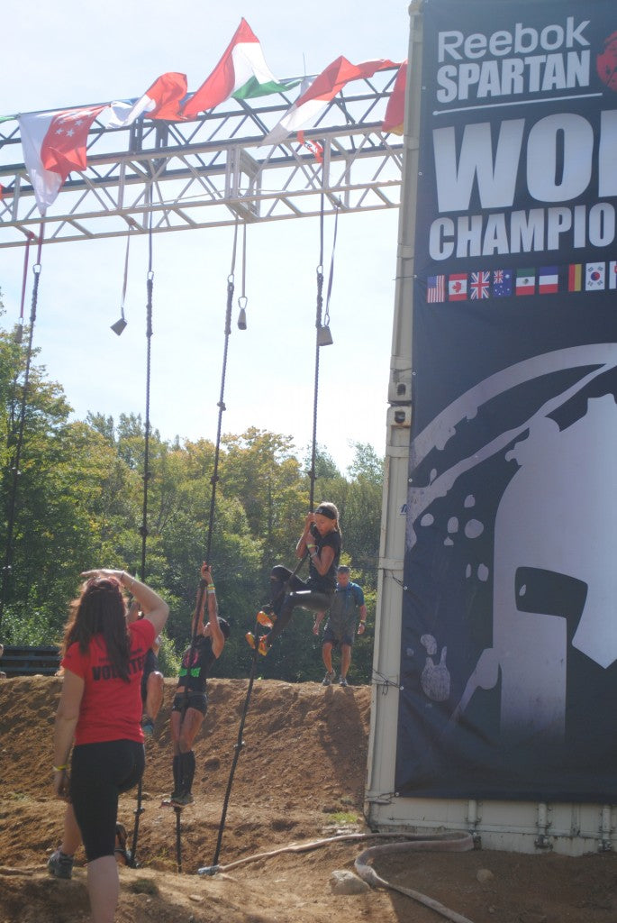 Spartan Vermont Beast World Championships 2013-rope climb