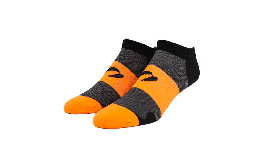 Bright Orange/Black Low Cut Socks