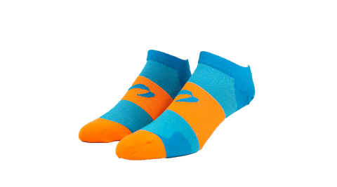 Bright Orange/ Turquoise Low Cut Socks