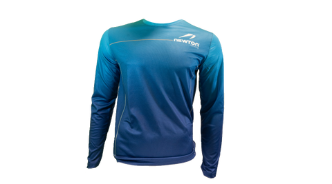 Men's Long Sleeve Tech Shirt - Blue