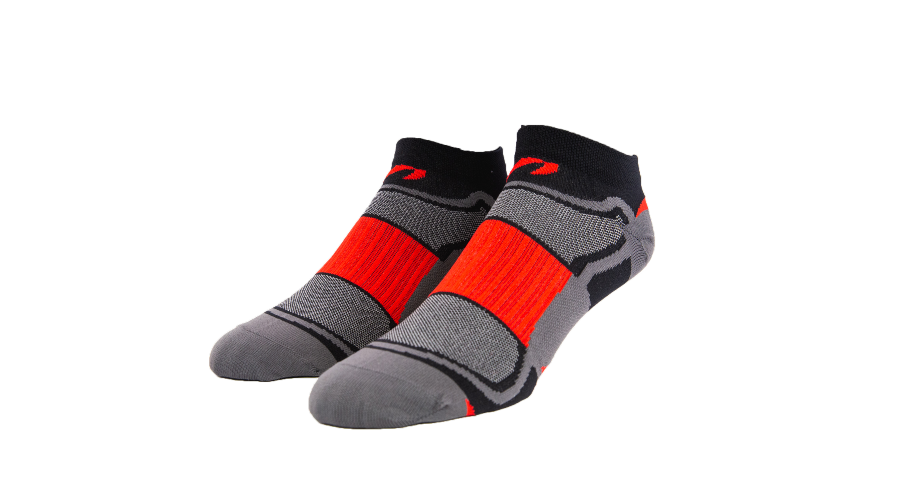 Red/Charcoal Low Cut Socks