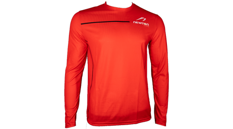 Men's Long Sleeve Tech Shirt - Red