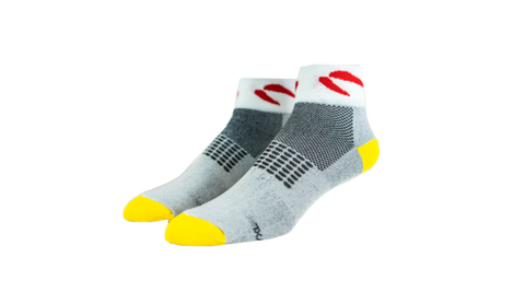 Grey Quarter Performance Socks