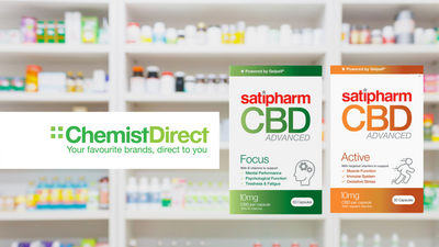 Now available from Chemist Direct | Satipharm CBD Advanced Range