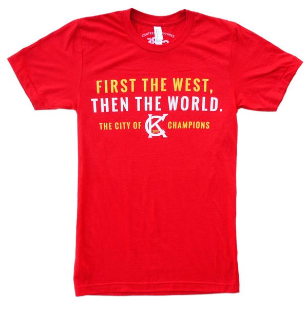 1853 Apparel First the West, Then the World Tee