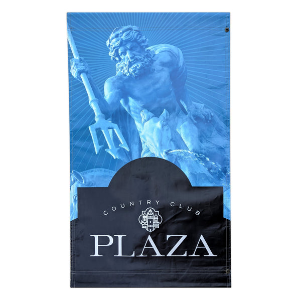 2016 Plaza Banner - Neptune Fountain - Blue