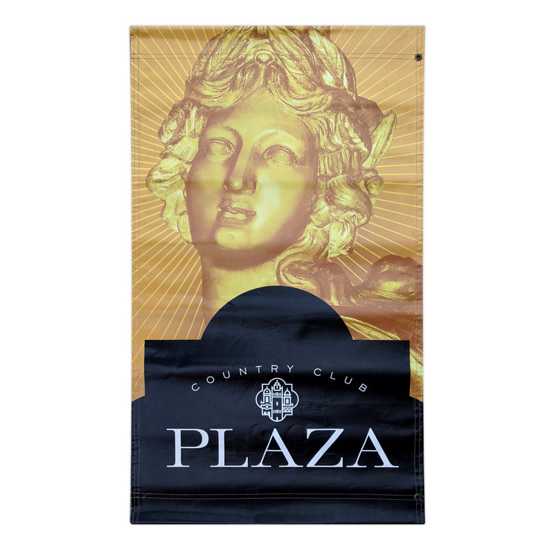 2016 Plaza Banner - Fountain of Bacchus - Gold