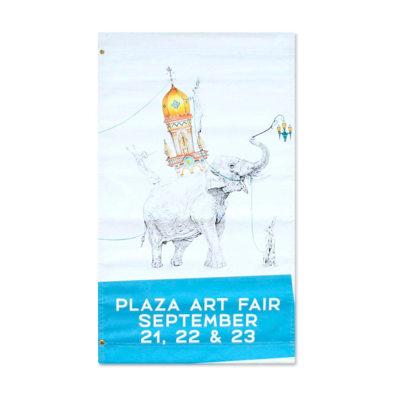 2018 Plaza Art Fair Banner - Amanda Outcalt - Blue