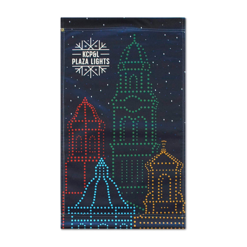 2018 Plaza Holiday Banner - Charlie Hustle - Navy and Red
