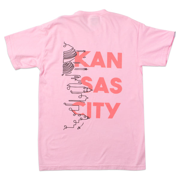 Al-Lex Kansas City Skyline Tee - Pink