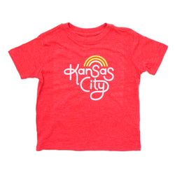 Ampersand Design Studio Kansas City Rainbow Kids Tee - Red