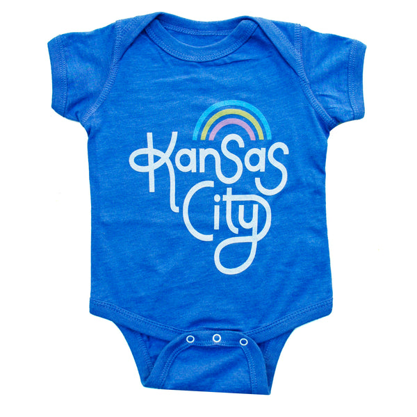Ampersand Design Studio Kansas City Rainbow Onesie - Blue