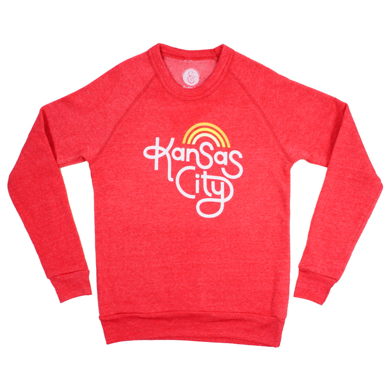 Ampersand Design Studio Kansas City Retro Sweatshirt - Red