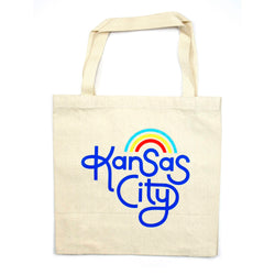 Ampersand Design Studio Kansas City Rainbow Tote Bag