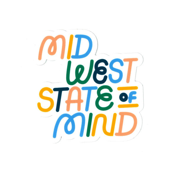 Ampersand Design Studio Midwest State of Mind Sticker