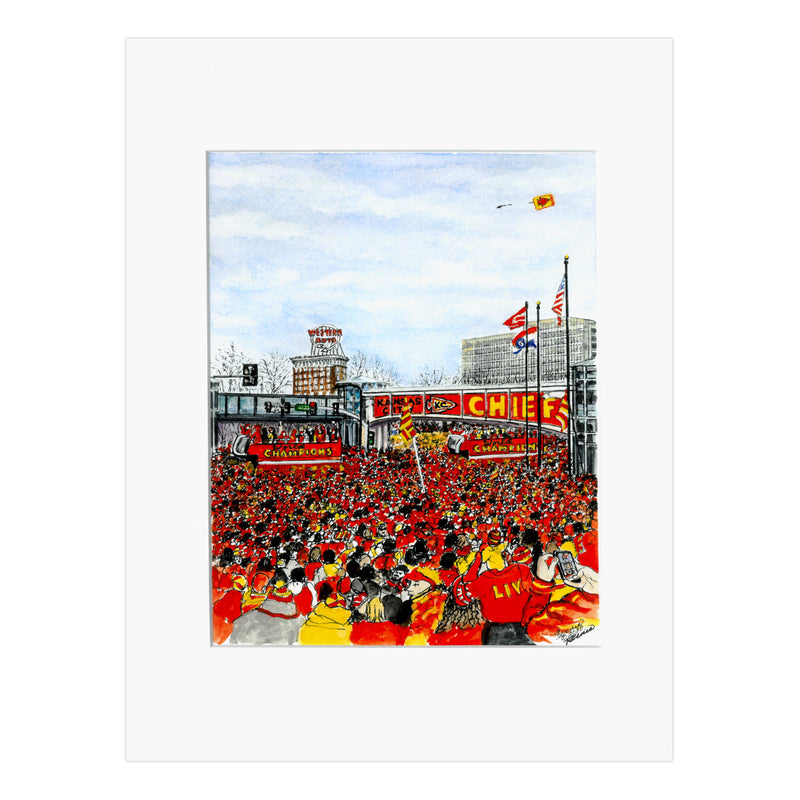 Art from Architecture World Champs LIV Victory Parade Print