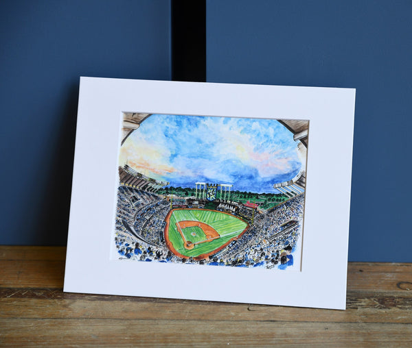 Art From Architecture Kauffman Stadium Print