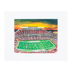 Art From Architecture Chiefs Stadium Print