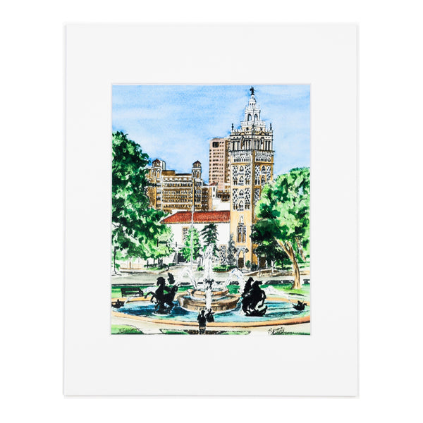 Art From Architecture Plaza Fountain Print