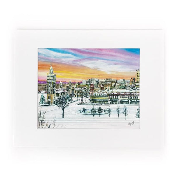 Art From Architecture Plaza Lights Print