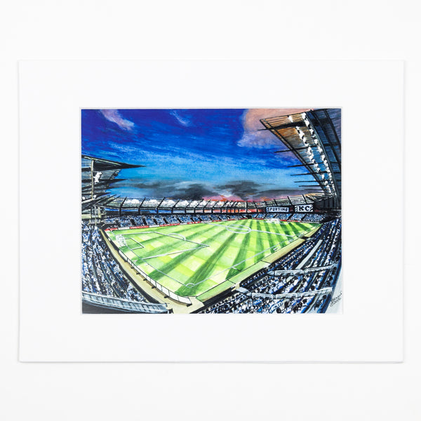 Art From Architecture Sporting KC Stadium Print