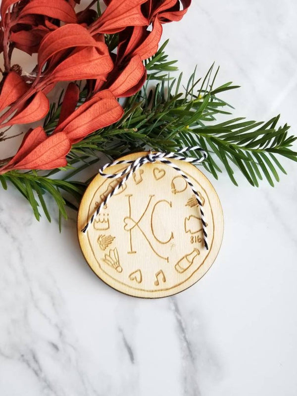Beautifelt KC Icons Woodcut Ornament