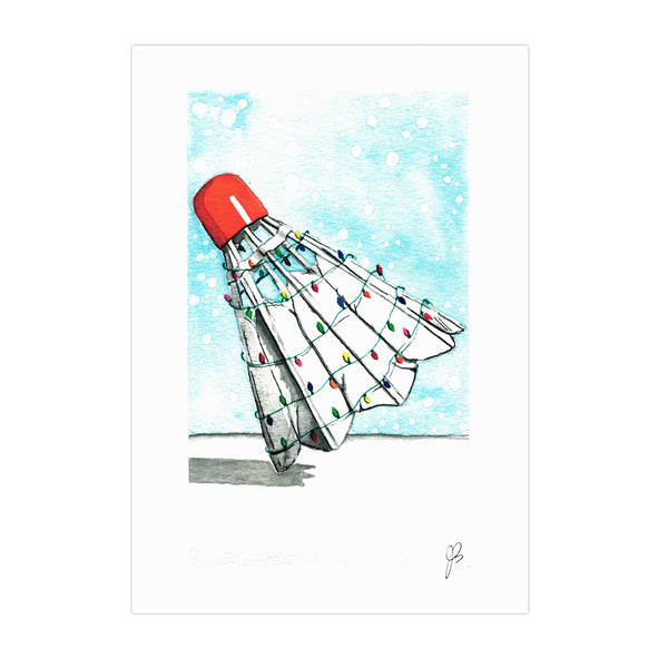 Beautifelt Holiday Shuttlecock Print