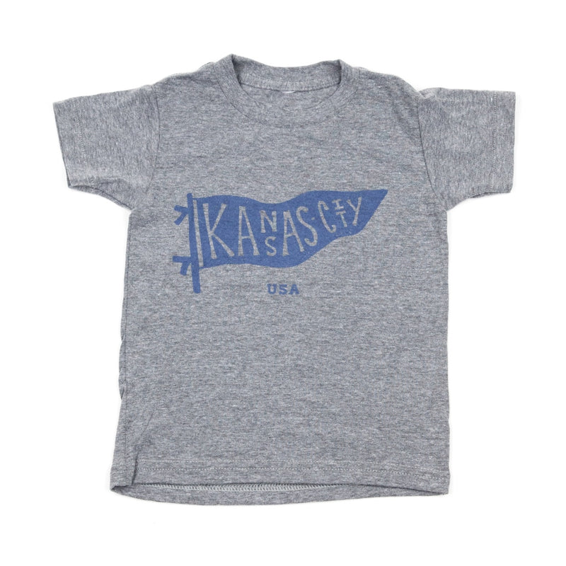 Bellboy Apparel Kids Light Grey Pennant Tee