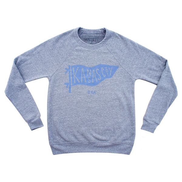 Bellboy Apparel Kansas City Pennant Sweatshirt - Grey