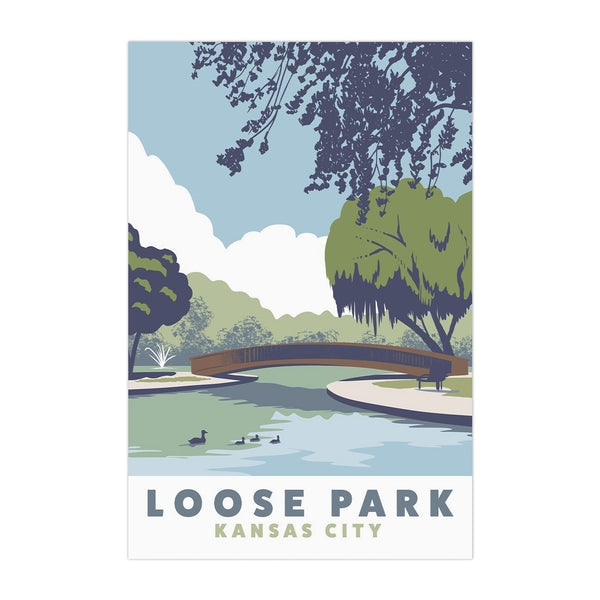 Bozz Prints Loose Park Postcard