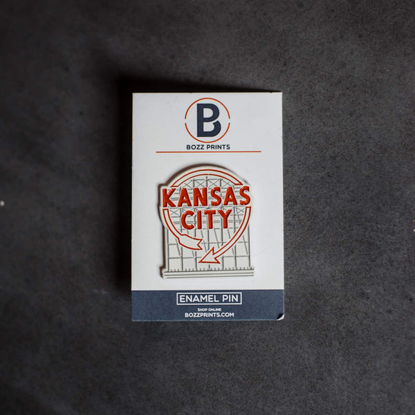Bozz Prints Kansas City Western Auto Enamel Pin