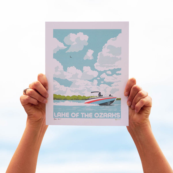 Bozz Prints Lake of the Ozarks Sky Print