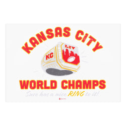 Bozz Prints World Champs Sure Has a Nice Ring to It Postcard