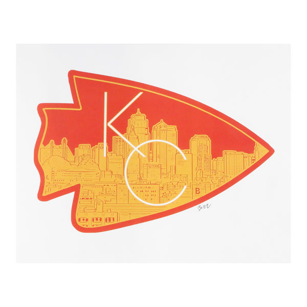 Bozz Prints KC Arrowhead City Postcard