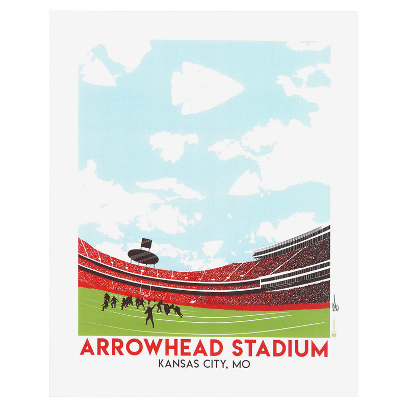 Bozz Prints Arrowhead Stadium Print