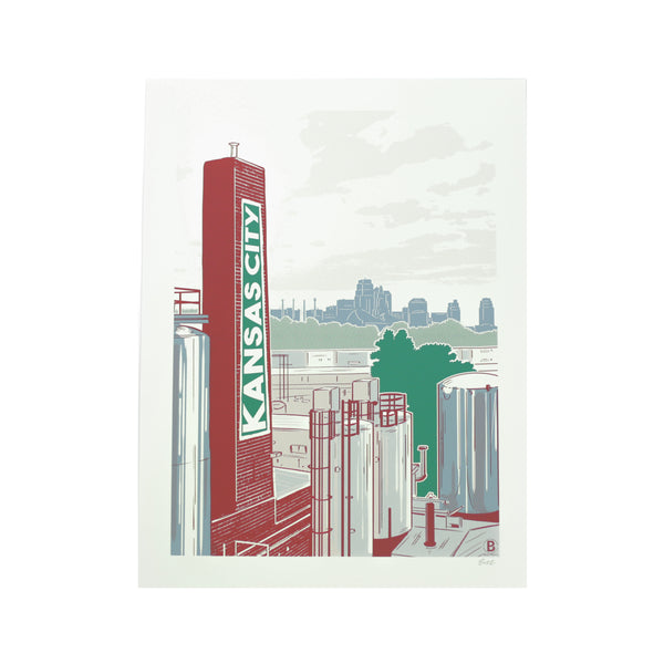 Bozz Prints Kansas City Brewery Print