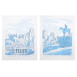 Bozz Prints Downtown Kansas City Print Set