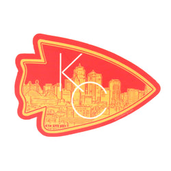 Bozz Prints KC Arrowhead Sticker