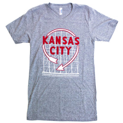 Bozz Prints Kansas City Auto Sign Tee - Grey
