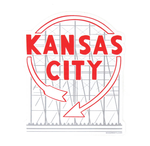 Bozz Prints Kansas City Western Auto Sticker