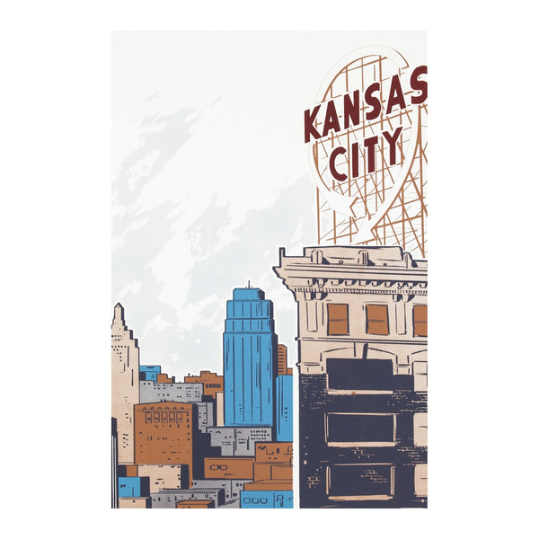 Bozz Prints Kansas City Crossroads Postcard