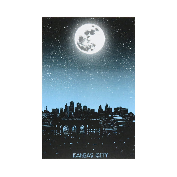 Bozz Prints Kansas City Moon Postcard