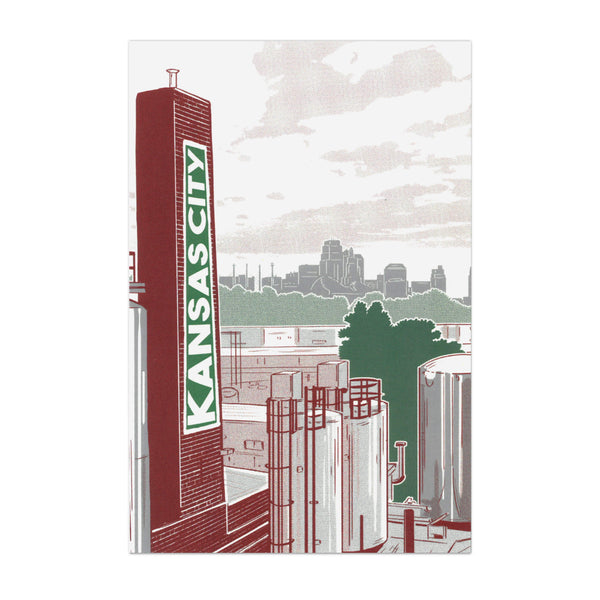 Bozz Prints Kansas City Brewery Postcard