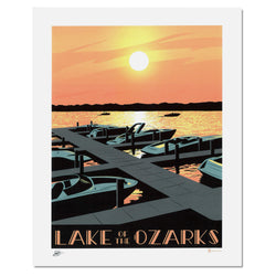 Bozz Prints Lake of the Ozarks Sunset Print