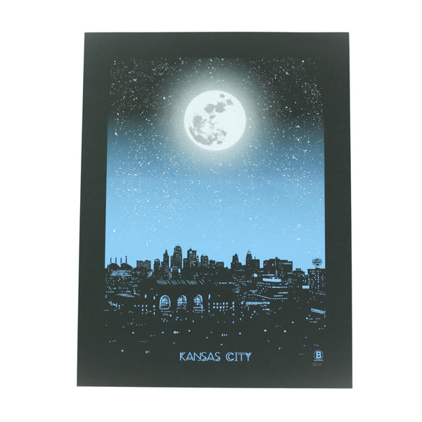 Bozz Prints Kansas City Moon Print