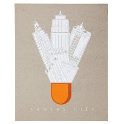 Bozz Prints Kansas City Icons Print