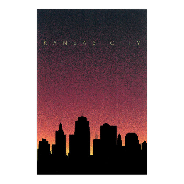 Bozz Prints Kansas City Dusk Skyline Postcard